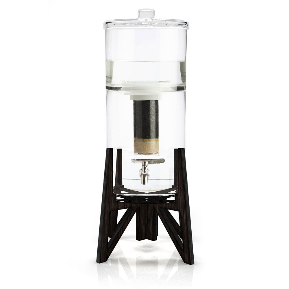 the tower carafe filtrante en verre de aquaovo my eco. Black Bedroom Furniture Sets. Home Design Ideas