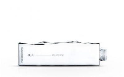 Jeju, une bouteille d'eau inspirée par une vague