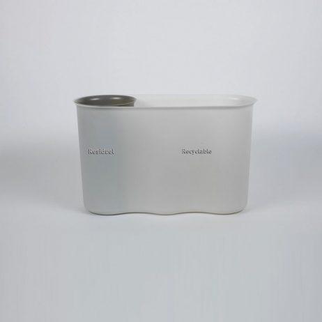 Corbeilles 2 bacs pour la collecte des déchets en entreprise