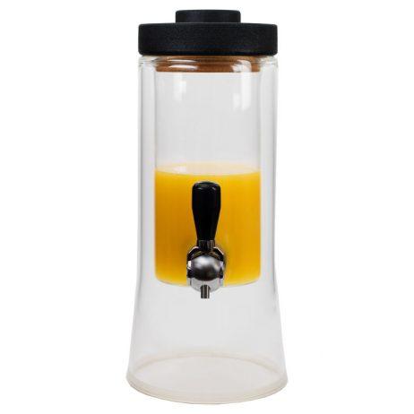 Fontaine à jus isotherme en double parois de verre