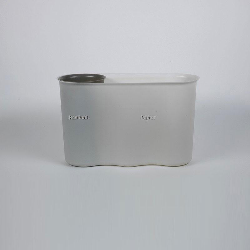 Poubelle de tri bureau, compacte et didactique