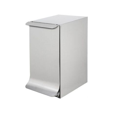 Poubelle de salle de bains Qube, avec couvercle, sans mécanisme