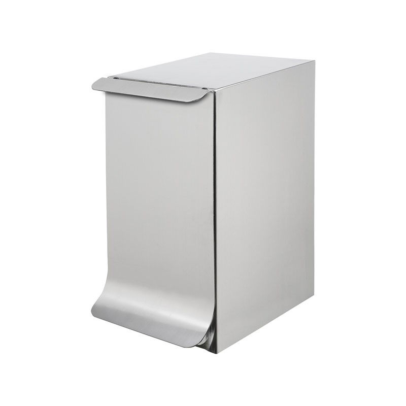 Qube bathroom bin, with lid, without mechanism