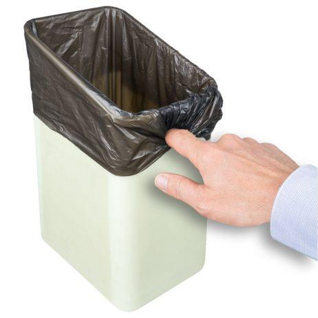 Poubelle sanitaire design Qube avec accroche sac