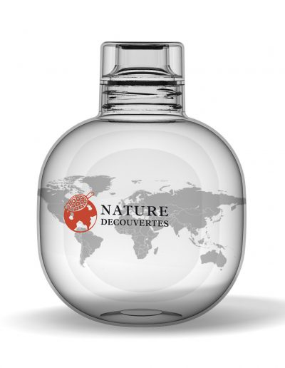 sphere promotional bottle, printable all around