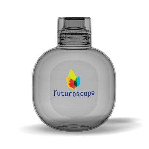 bouteille publicitaire sphere avec une large surface de personnalisation