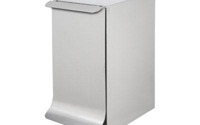 Qube, poubelle de sanitaire ou de salle de bains design et innovante