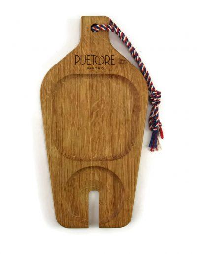 Planche a decouper design en bois personnalisableLA_BOUTEILLE-BISTRO