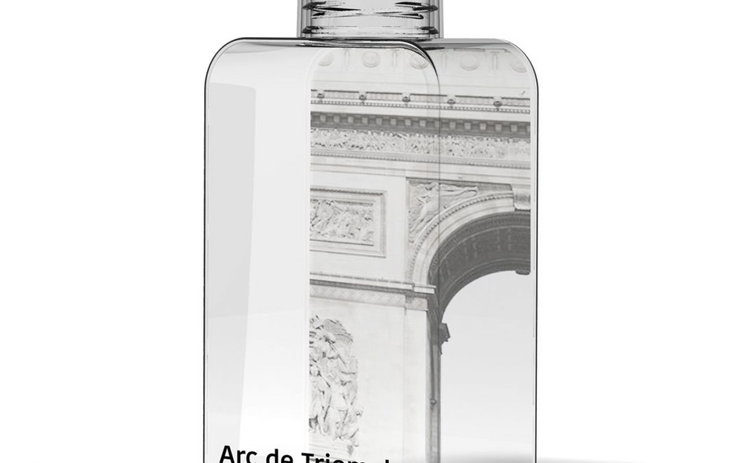 50 cl advertising bottle, made in France, 100% recyclable