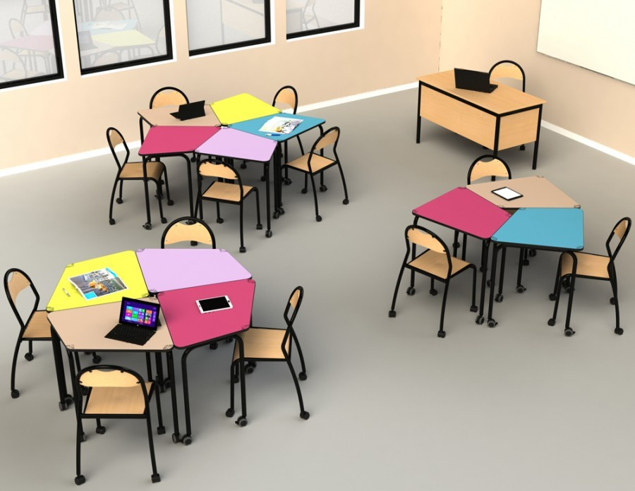 School design tables for active pedagogy